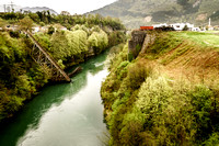Destroyed bridge in Jablanica